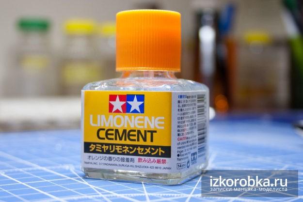 Модельный клей Tamiya. С запахом лимона