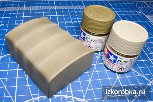 Сборная модель Газ-ММ, окраска тента