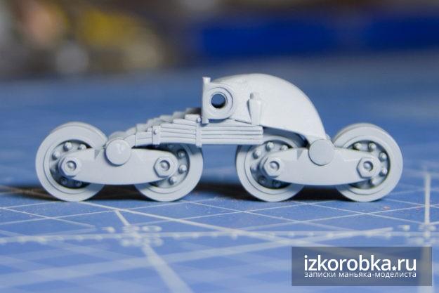 Сборная модель танка т-26. Грунтование тележек катков