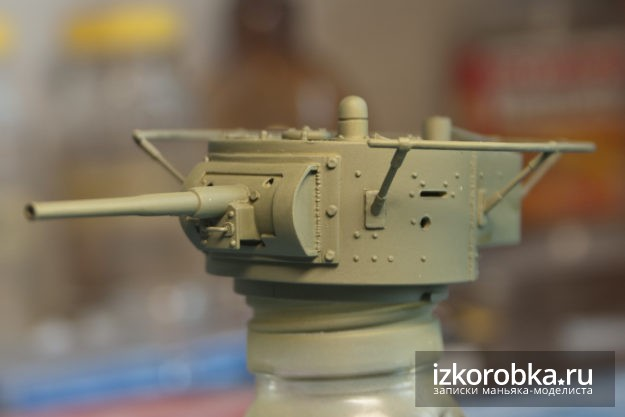 Сборная модель танка т-26. Окраска башни в базовый цвет