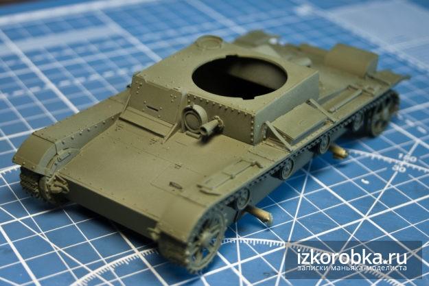 Сборная модель танка т-26. Окраска корпуса в базовый цвет