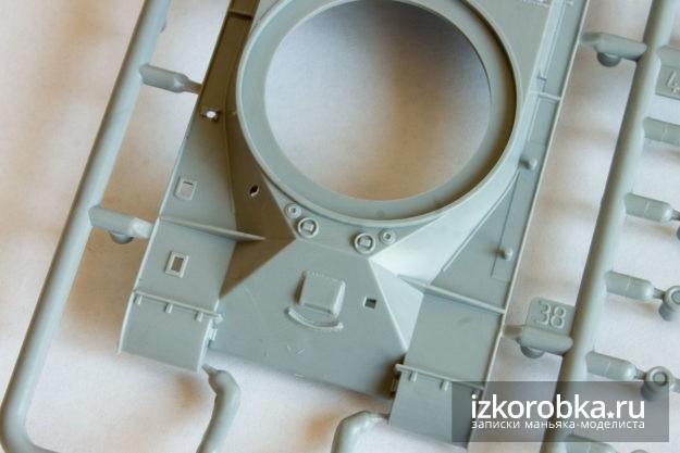 Верхняя часть корпуса. Модель танка ИС-2