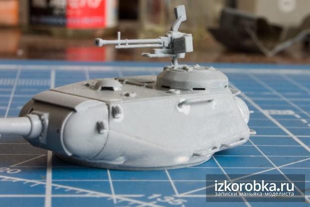 Сборка башни. Модель танка ИС-2, Звезда, масштаб 1/72