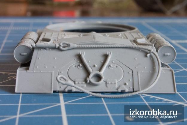 Сборка корпуса модели танка ИС-2 от Звезды