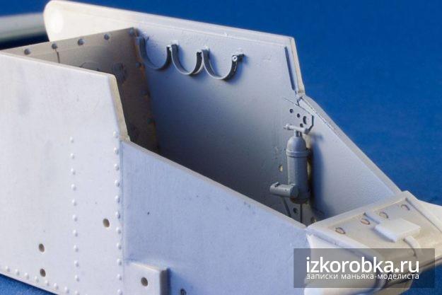 Интерьер танка Т-18 МС-1. После грунтования
