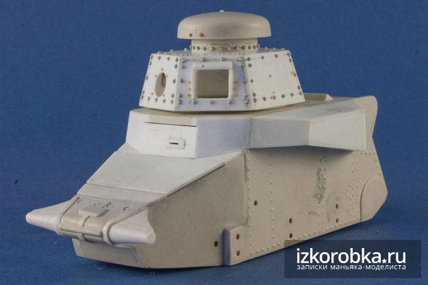 Геометрия корпуса модели танка Т-18 в целом готова