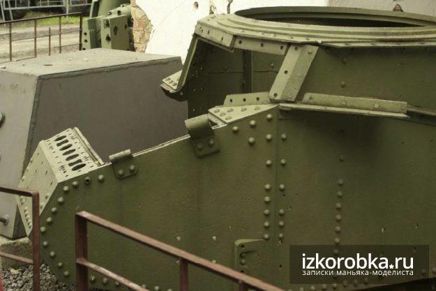 Танк Т-18 МС. Фиксаторы для боковых створок люка мехвода