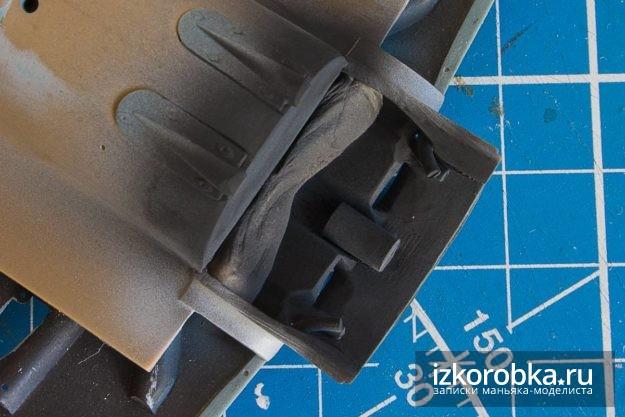 И-16 тип 17 окраска внутренних частей капота