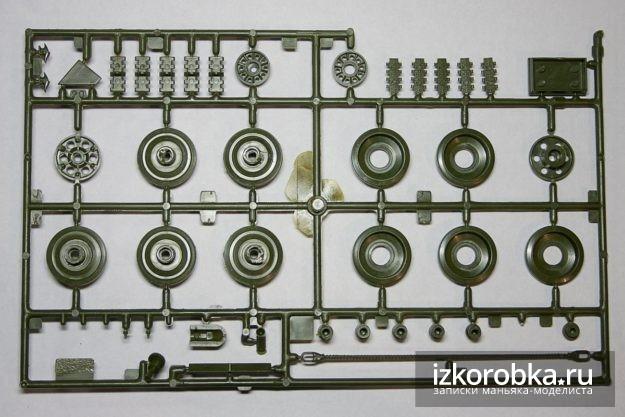 СУ-100 Литник с элементами ходовой