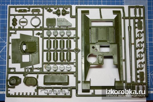 СУ-100 Звезда 1/35. Литник с верхней частью корпуса