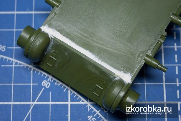 Модель СУ-100 сборка ванны корпуса