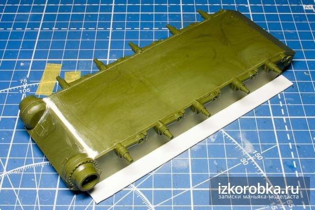 СУ-100 убираем дыры на корпусе