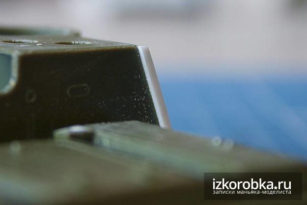 СУ-100. Имитация нахлеста бокового бронелиста рубки