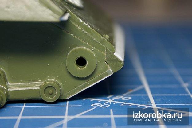 СУ-100. Форма передней балки корпуса