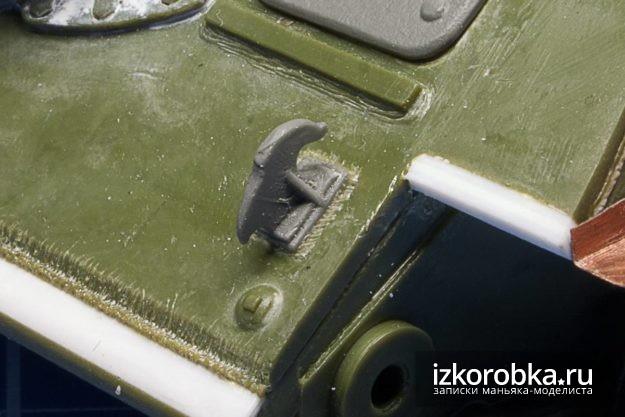 СУ-100. Передний крюк и имитация сварного шва