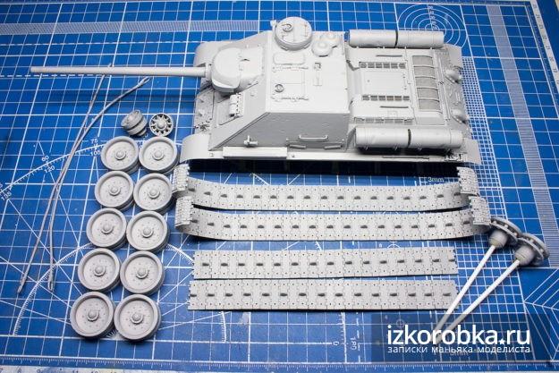Модель СУ-100 от Звезды. Грунт