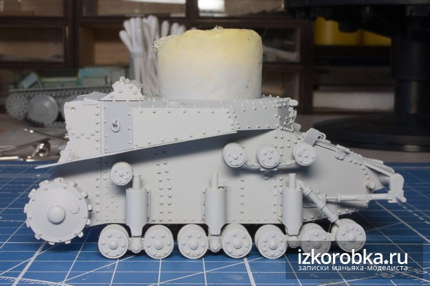 Модель танка Т-18 МС-1. Грунтовка