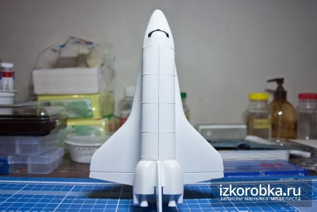 Space Suttle Orbiter Hasegawa - окончательная окраска глянцевым белым