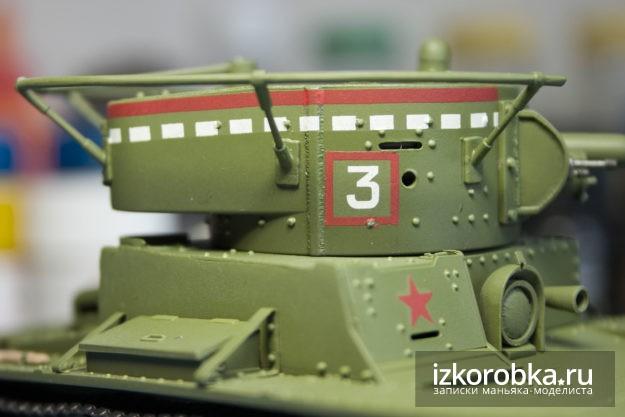 Модель танка Т-26. Нанесение декалей
