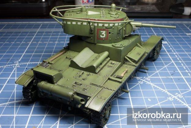 Модель танка Т-26. Смывка