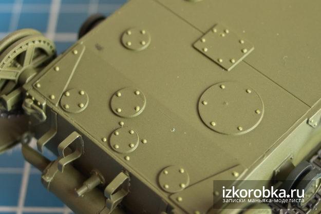 Модель танка Т-26. Окраска