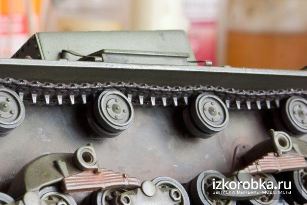 Окраска траков танка Т-26. Сухая кисть