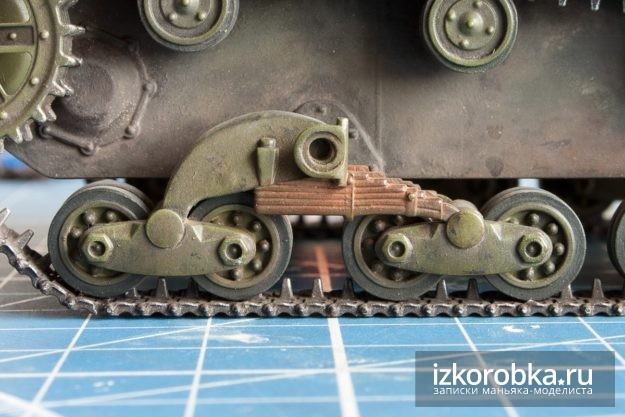 Окраска танка Т-26. Рессоры