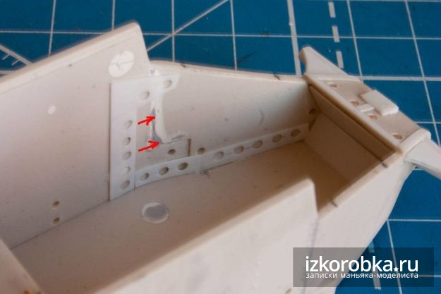 Интерьер танка Т-18 МС-1. Ребро жесткости корпуса
