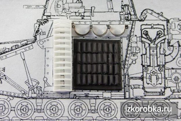 Интерьер танка Т-18 МС-1. Примерка на чертеж