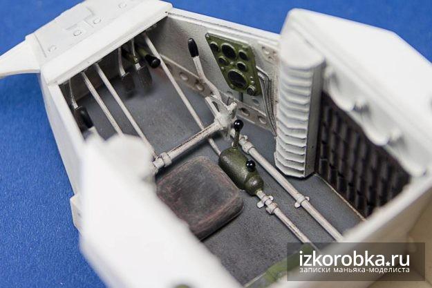 Окраска отсека экипажа танка Т-18 МС-1. Вид сверху