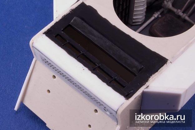 Вентиляционные отверстия двигательного отсека в корпусе модели танка Т-18 МС-1