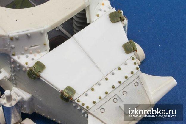 Танк Т-18 МС-1. Створки люка мехвода с рабочими петлями