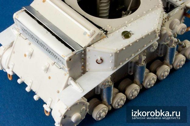 Оснастка задней части корпуса танка Т-18