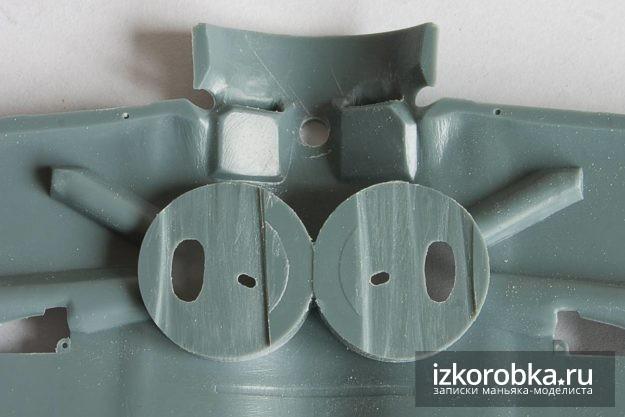 Eduard И-16 тип 17 стачиваем пластик под смотровые окна