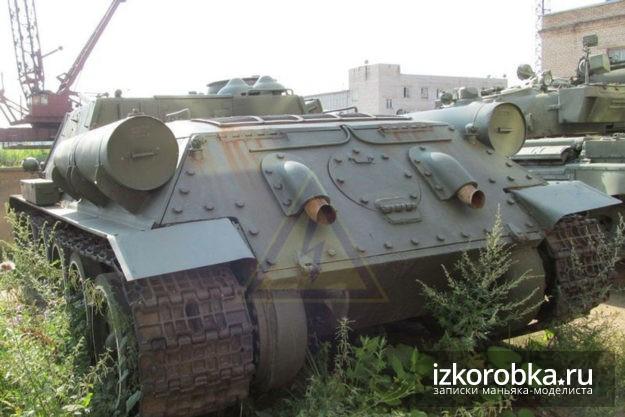 Задняя броне-плита СУ-100