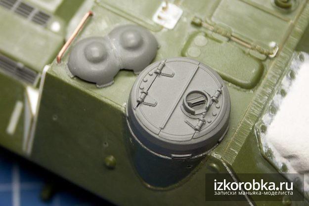 СУ-100. Комбашенка и колпаки вентиляторов