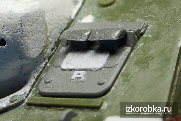 СУ-100 Люк мехвода в сборе