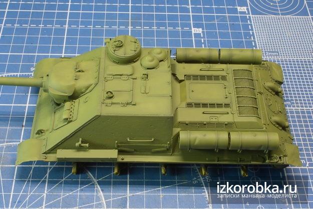 Модель СУ-100 Звезда 1/35 Базовый 4БО