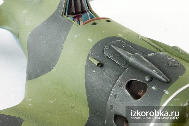Трубка Пито на модели самолета И-16